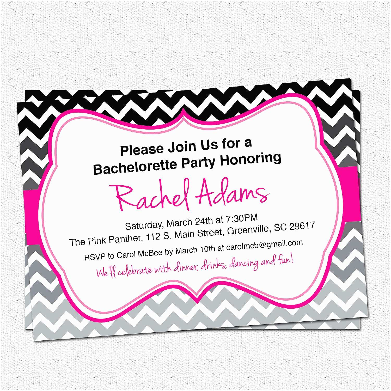 Bachelorette Party Invitations Bachelorette Party Invite Template