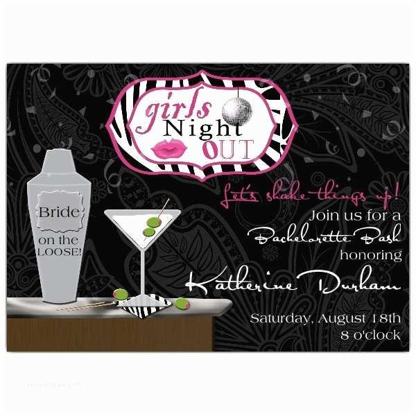 Bachelorette Party Invitations Chic Bar Cocktail Bachelorette Party Invitations