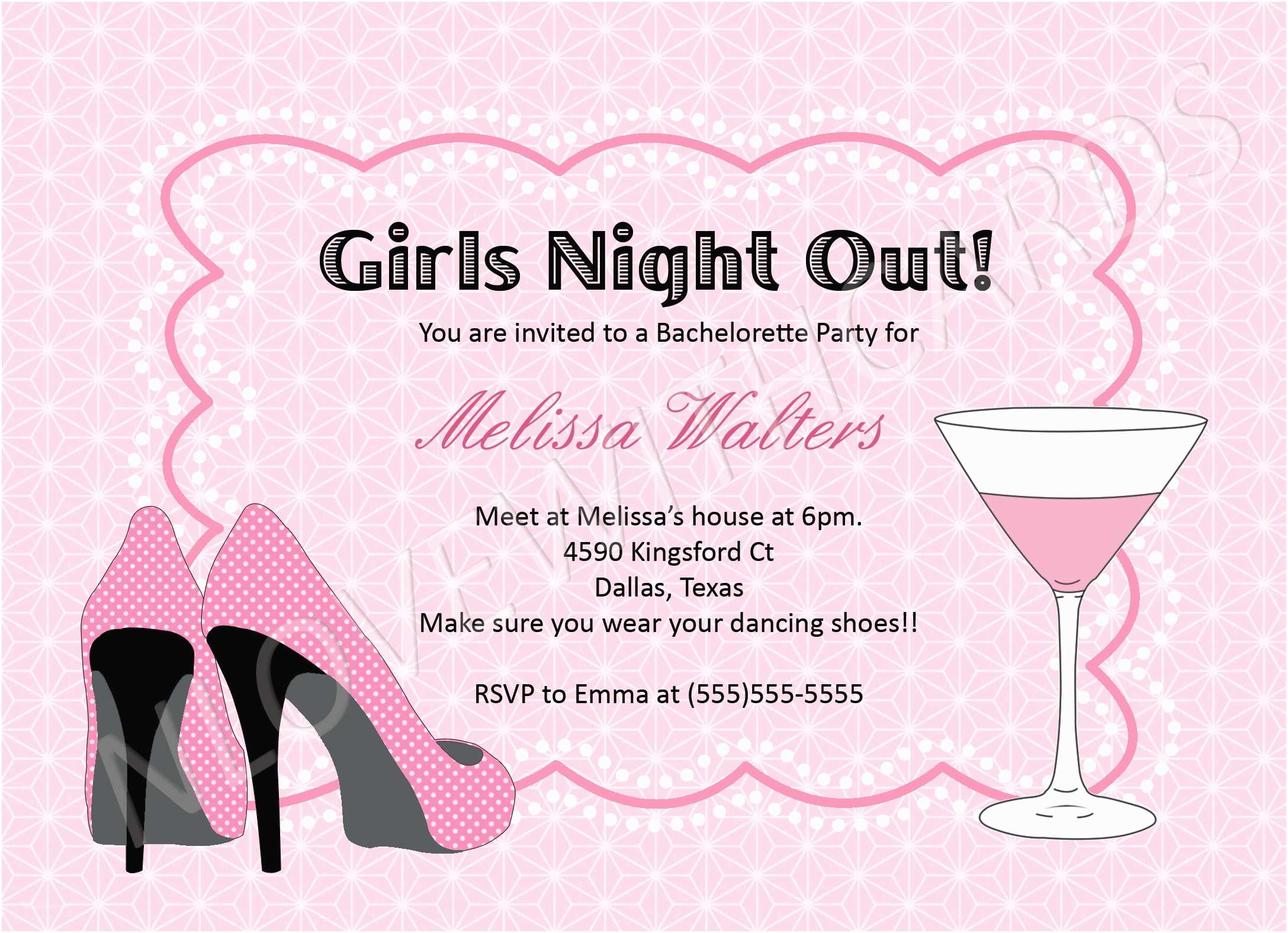 Bachelorette Party Invitations Party Invitations Bachelorette Party Invites Design