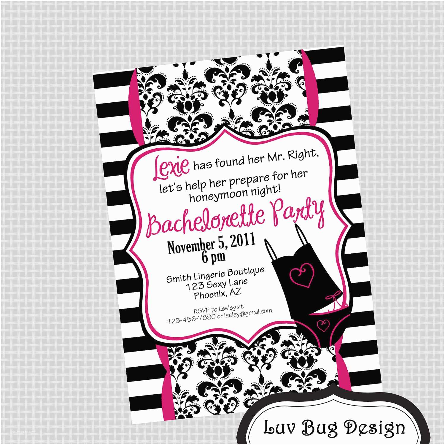 Bachelorette Party Invitations Printable Elegant Bachelorette Party Invitation by
