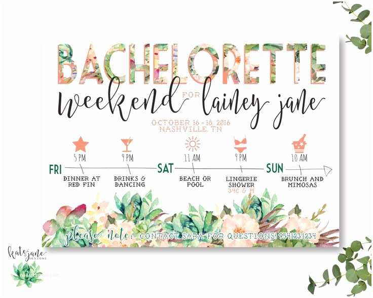 Bachelorette Party Invitations with Itinerary Best 25 Garden Party Invitations Ideas On Pinterest