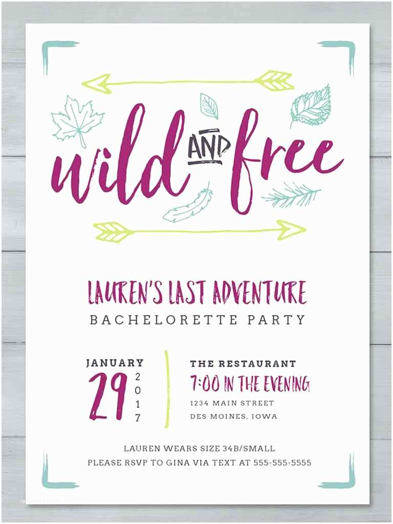 Bachelorette Party Online Invitations Printable
