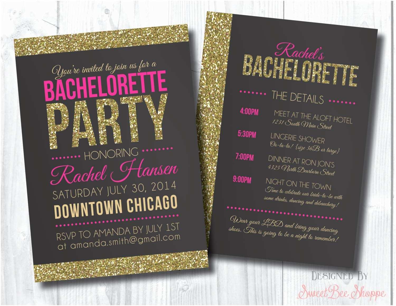 Bachelorette Party Online Invitations Shimmer Sparkle Nailartssravi