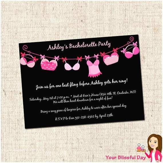 Bachelorette Party Online Invitations Printable Bra Line Bachelorette Party Invitations 803 by