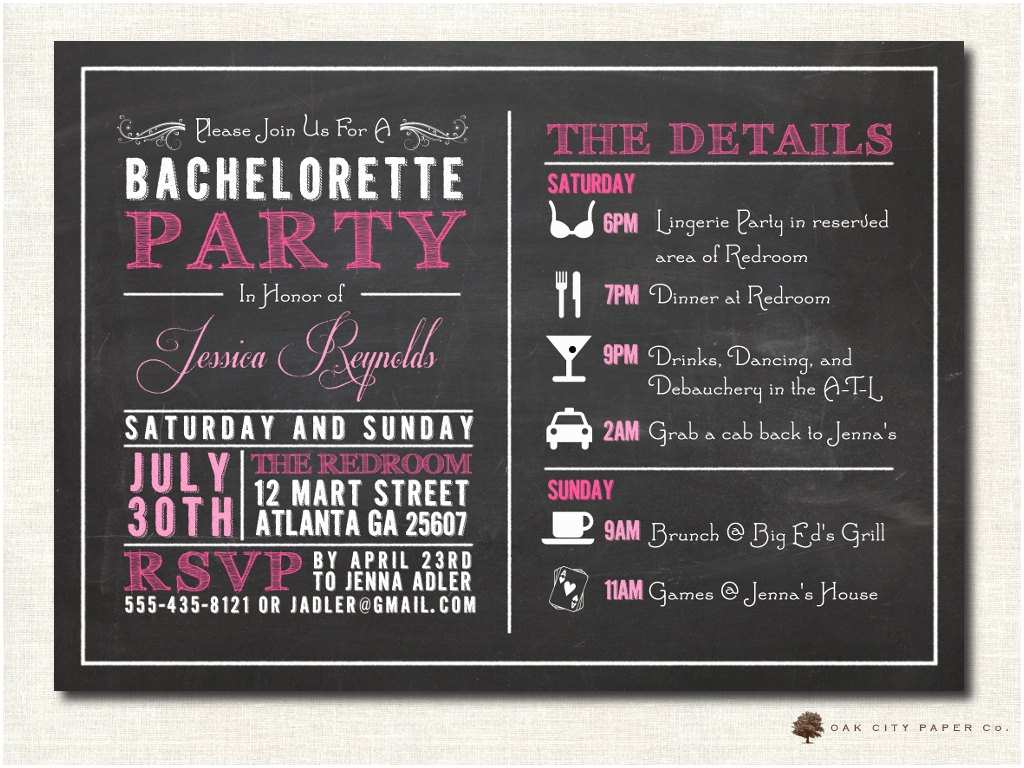 Bachelorette Weekend Invitations Bachelorette Invitation Bachelorette Party Invitation