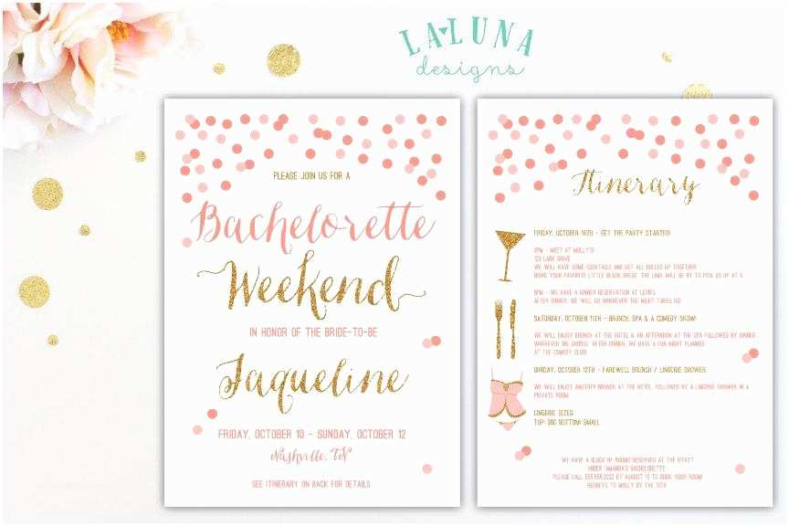 Bachelorette Weekend Invitations Bachelorette Party Itinerary Template