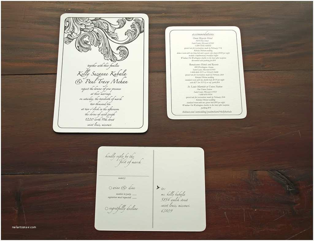 Back Of Wedding Invitation Letterpress Wedding Invitation Set Back