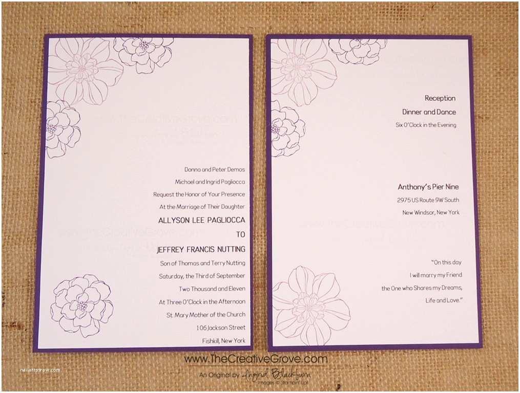 Back Of Wedding Invitation Secret Garden Diy Wedding Invitations