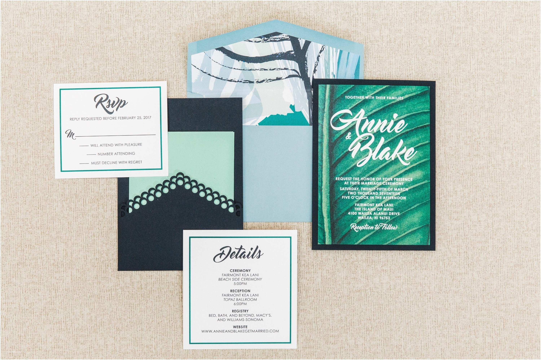 Back Pocket Wedding Invitations 5x7 Back Pocket Tropical Hawaiian Wedding Invitation In