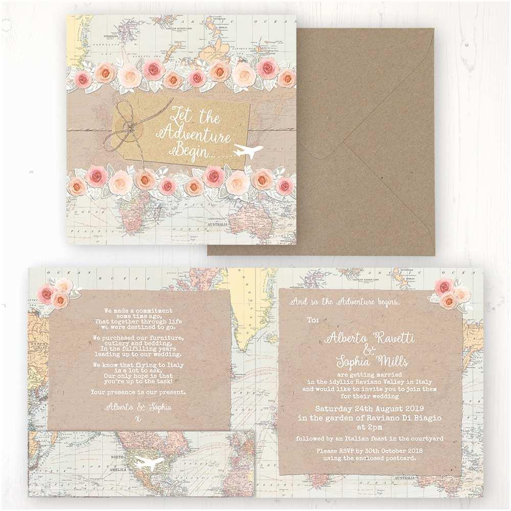 Back Pocket Wedding Invitations Adventure Wedding Invitations Sarah Wants Stationery