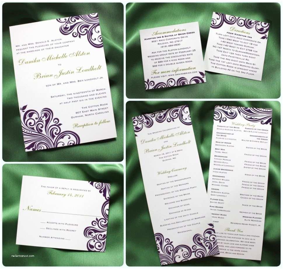 Back Pocket Wedding Invitations Calligraphy Wedding Invitation Navy Blue Pocketfold
