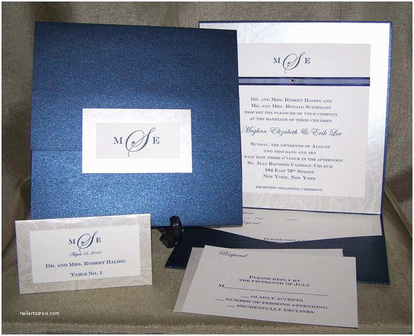Back Pocket Wedding Invitations Carta Bella