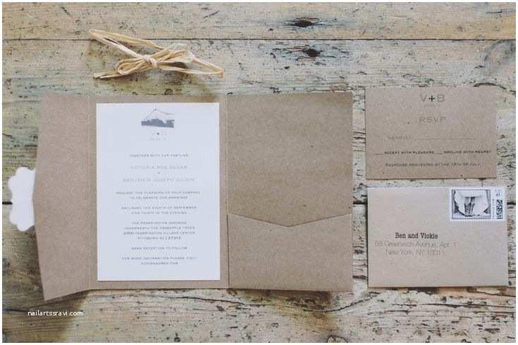 Back Pocket Wedding Invitations Diy Rustic southern Wedding