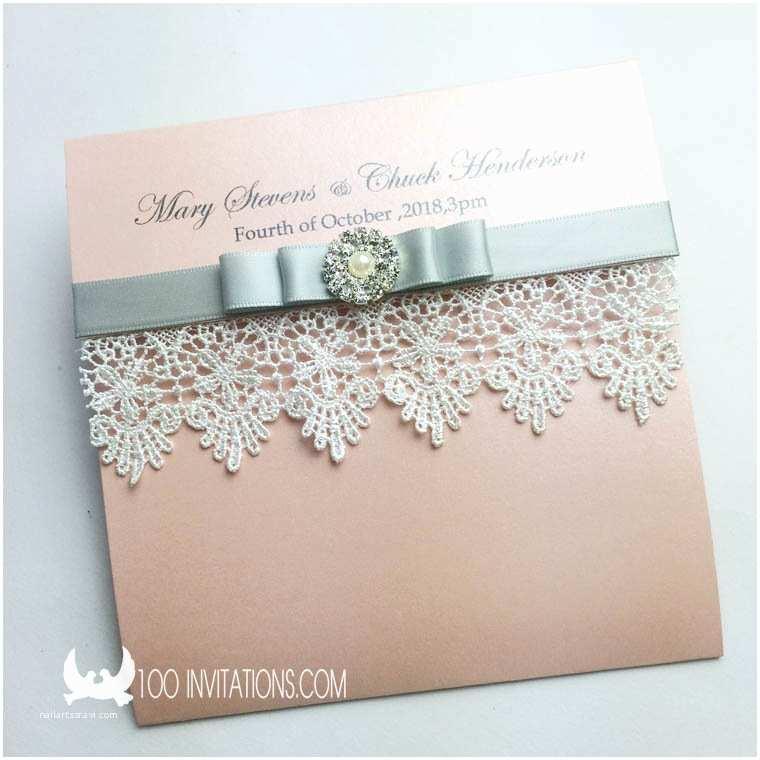 Back Pocket Wedding Invitations Lace Wedding Invitations Free Shipping