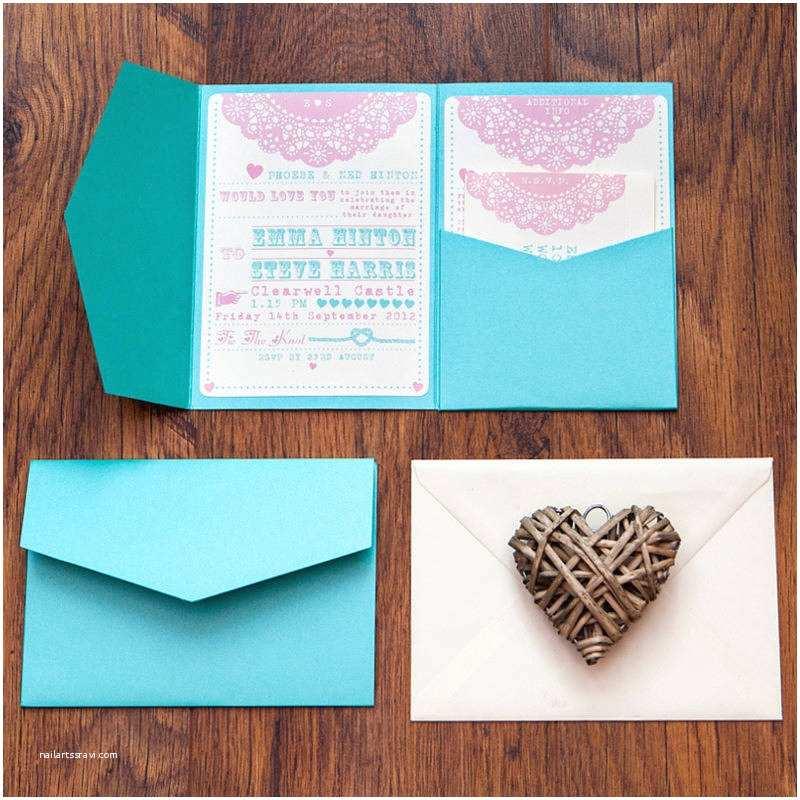 Back Pocket Wedding Invitations Wedding Pocket Invitation Invi Swirly Pocket