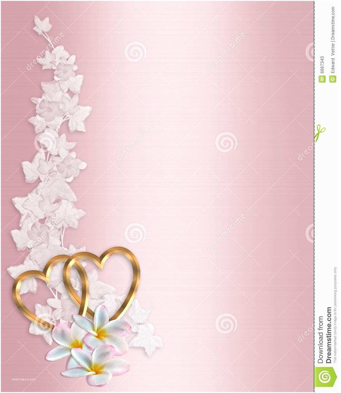 Background Designs for Wedding Invitations Free Wedding Invitation Pink Plumeria Stock Illustration