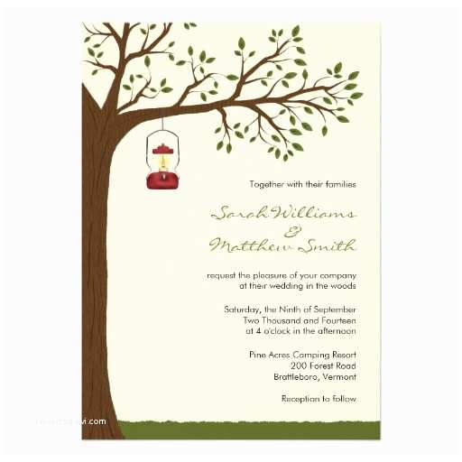 Backyard Wedding Invitations Outdoor Camping Wedding Invitations