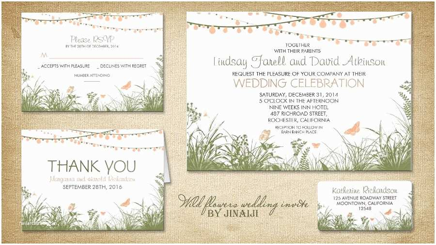 Backyard Wedding Invitations Stirring Outdoor Wedding Invitations