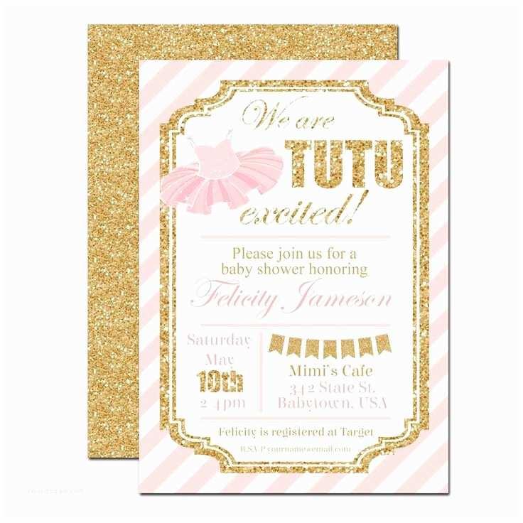 Ballerina Baby Shower Invitations 10 Best Ideas About Tutu Baby Showers On Pinterest