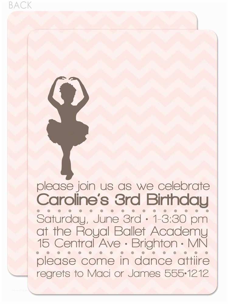 Ballerina Birthday Invitations Ballerina Birthday Invitation – Pipsy