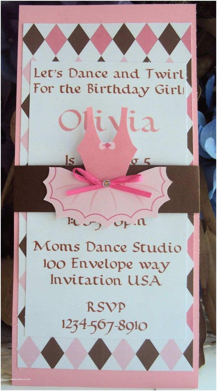 Ballerina Birthday Invitations Ballerina Invitation Birthday Invitation Ballerina Party