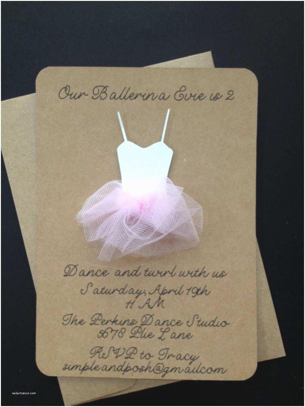 Ballerina Birthday Invitations Like This Item