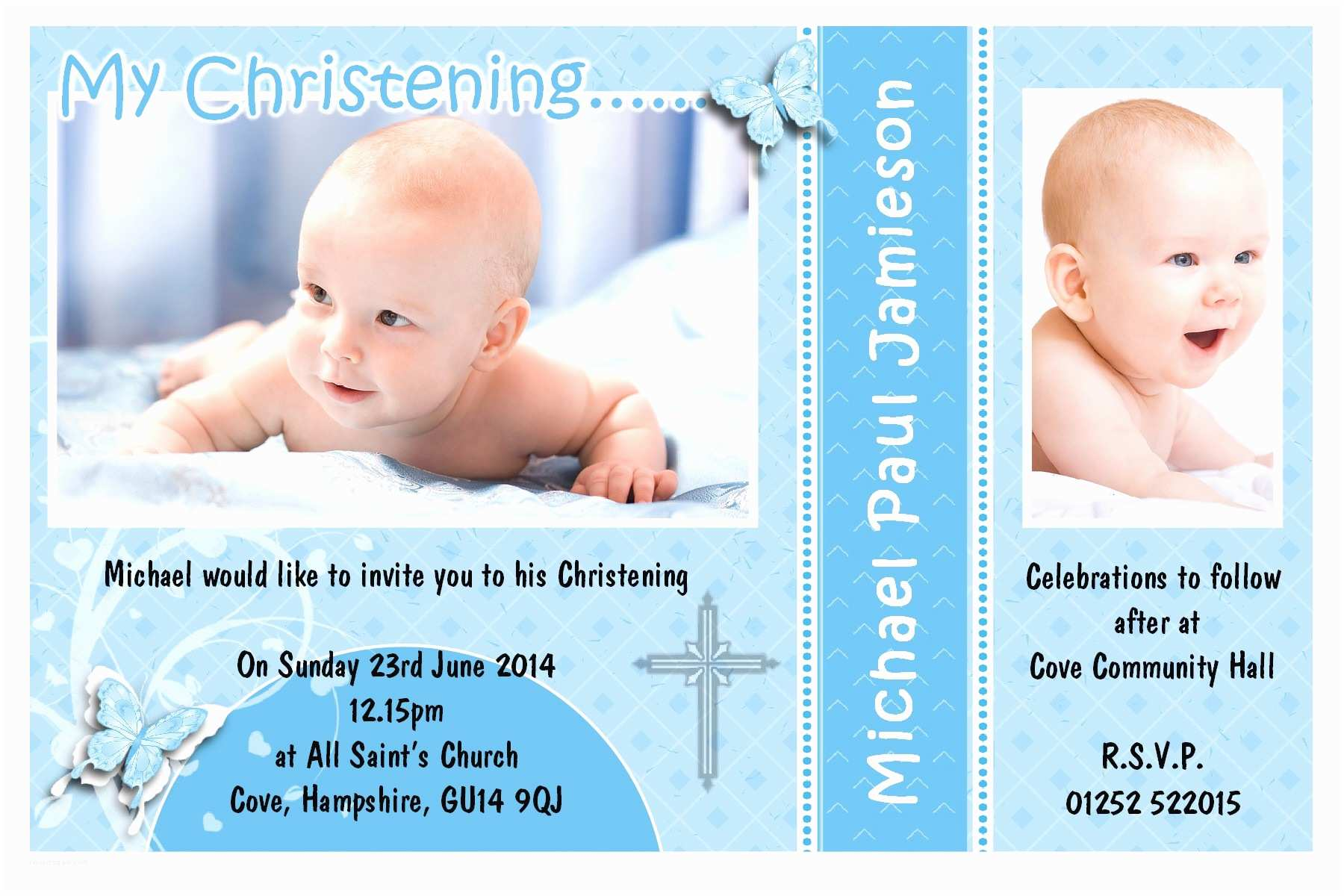 Baptism Invitation Template Sample Invitation Layout for Christening Gallery