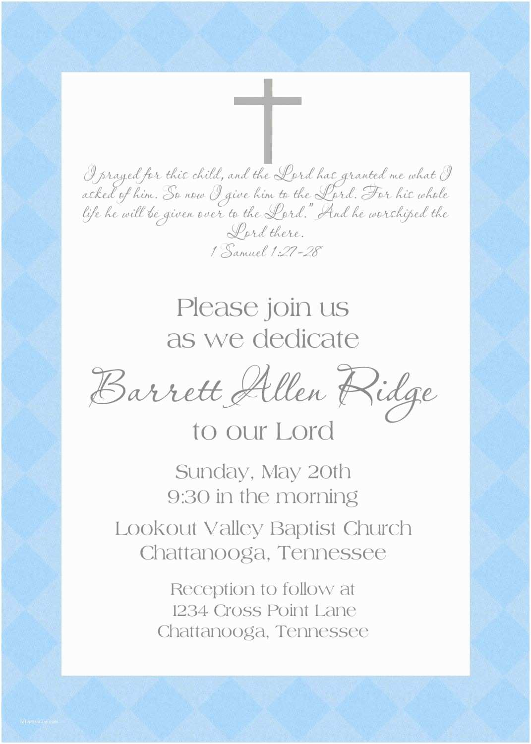 Baptism Invitation Wording Baby Dedication Invitation Baby Pinterest