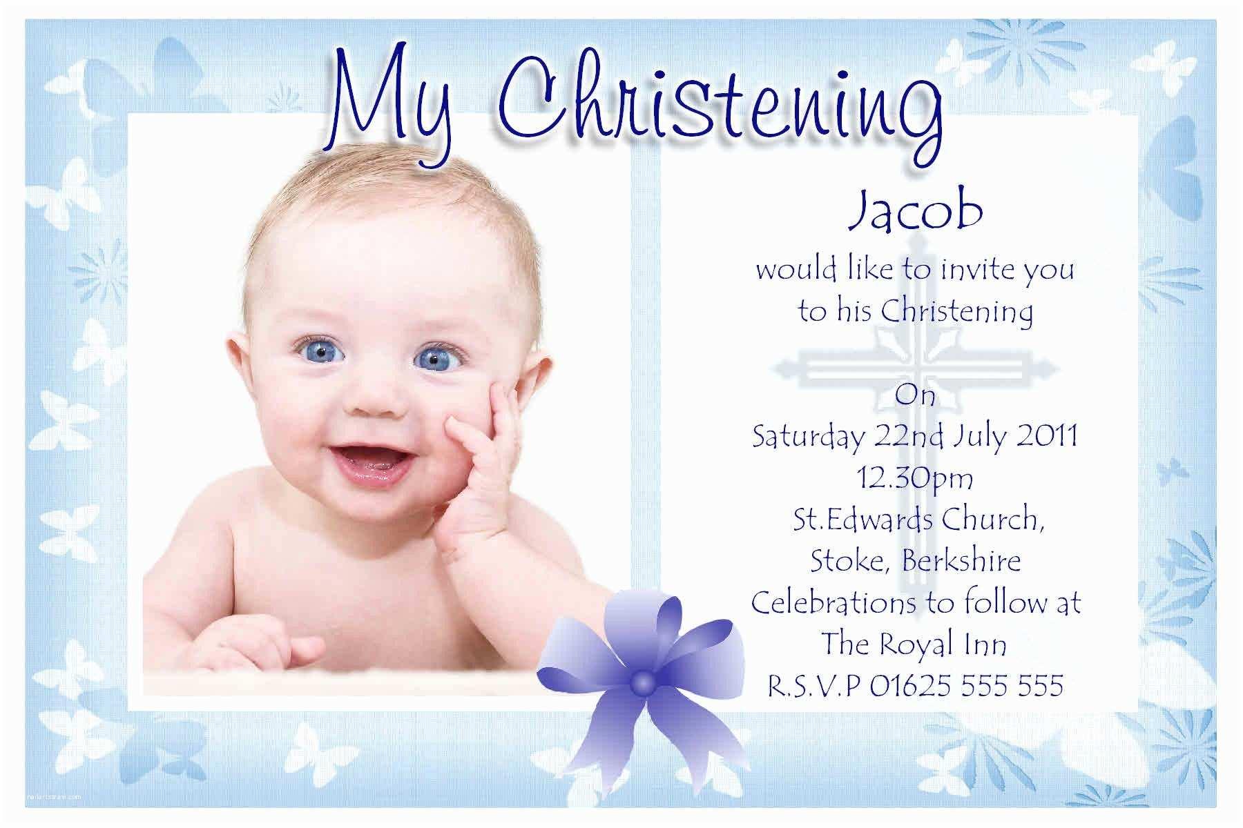 Baptism Invitation Wording Baptism Invitation Baptism Invitations for Boys New