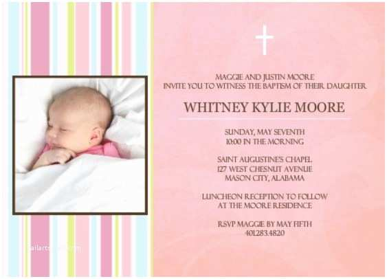wording for baptism invitation