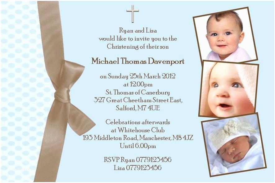 Baptism Invitations for Boys Baby Baptism Invitations – Gangcraft