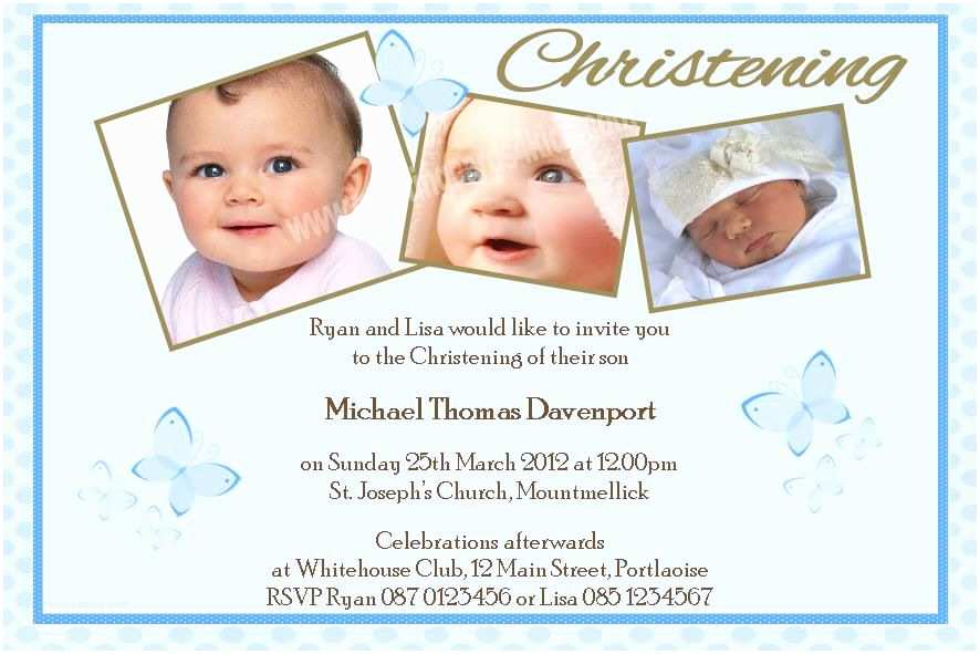 Baptism Invitations for Boys Baptism Invitations for Boys Blank Baptismal Invitation