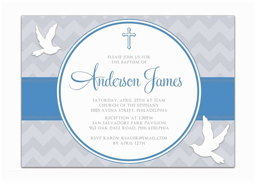 Baptism Invitations for Boys Boy Baptism Invitations Catholic