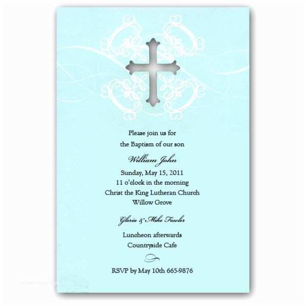 Baptism Invitations for Boys Diecut Embossed Boy Baptism Invitations