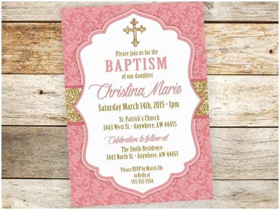 Baptism Invitations for Girls Baptism Invitation Girl Munion Girl Invitations Girl