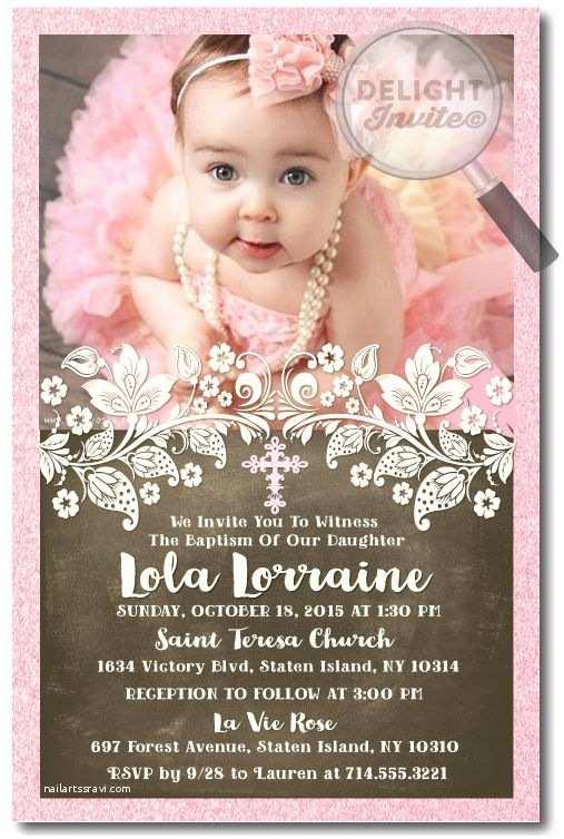Baptism Invitations for Girls Best 25 Christening Invitations Ideas On Pinterest
