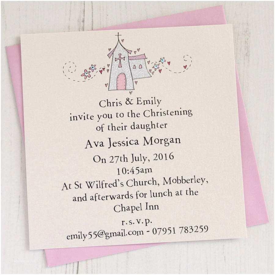 Baptism Invitations for Girls Personalised Christening Invitation Pack by Eggbert