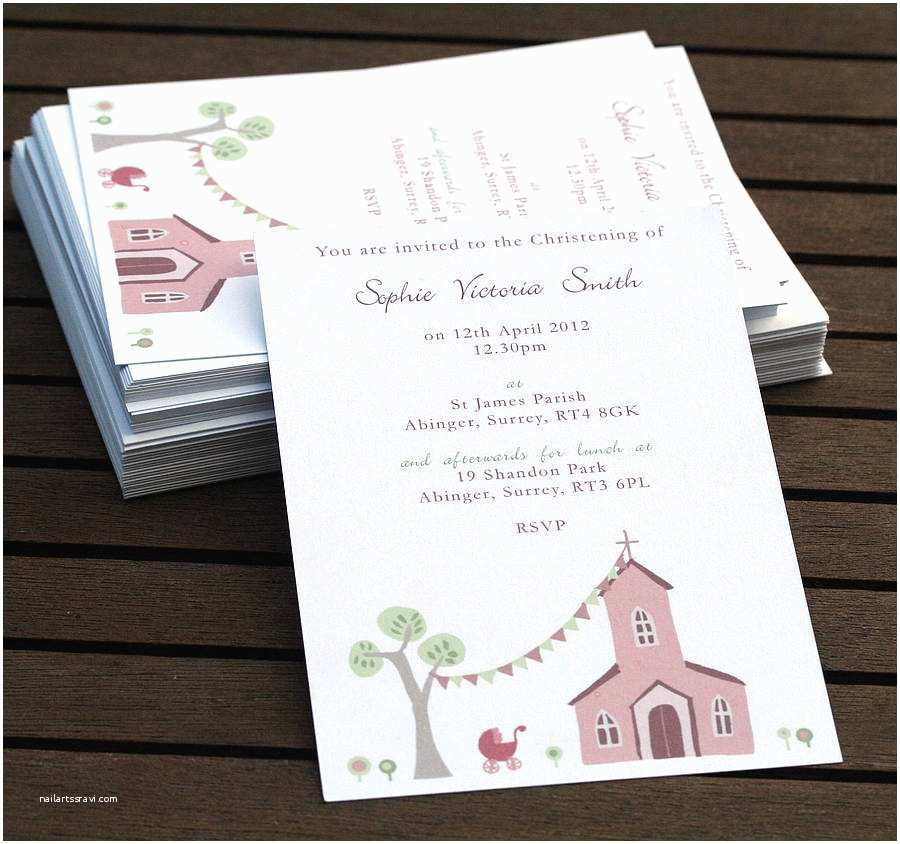 Baptism Invitations Personalised Christening or Baptism Invitations by Molly