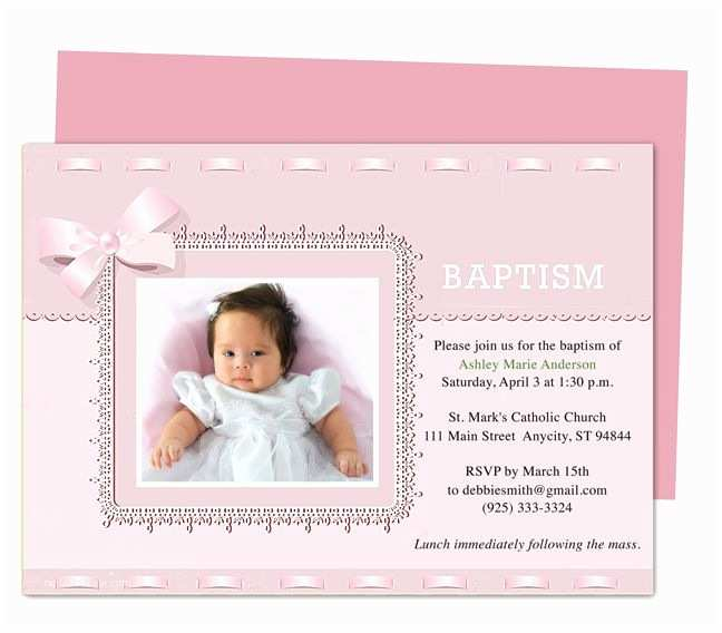 Baptism Invitations Templates 21 Best Printable Baby Baptism and Christening Invitations