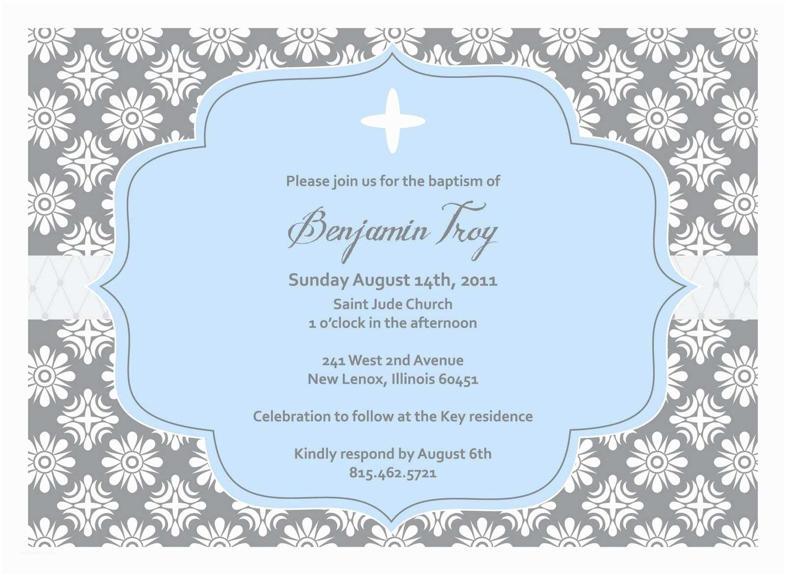 Baptism Invitations Templates Christening Invitation Blank Template