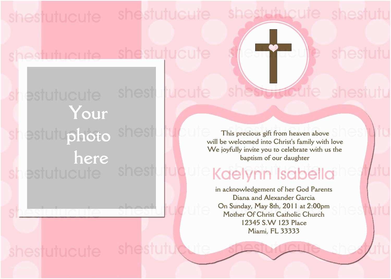 Baptism Invitations Templates Girls Baptism Invitations Digital File by Shestutucutebtq