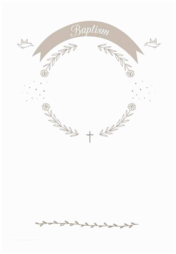 picture relating to Free Printable Baptism Cards referred to as Baptism Invites Templates Ribbon Cameo No cost Printable