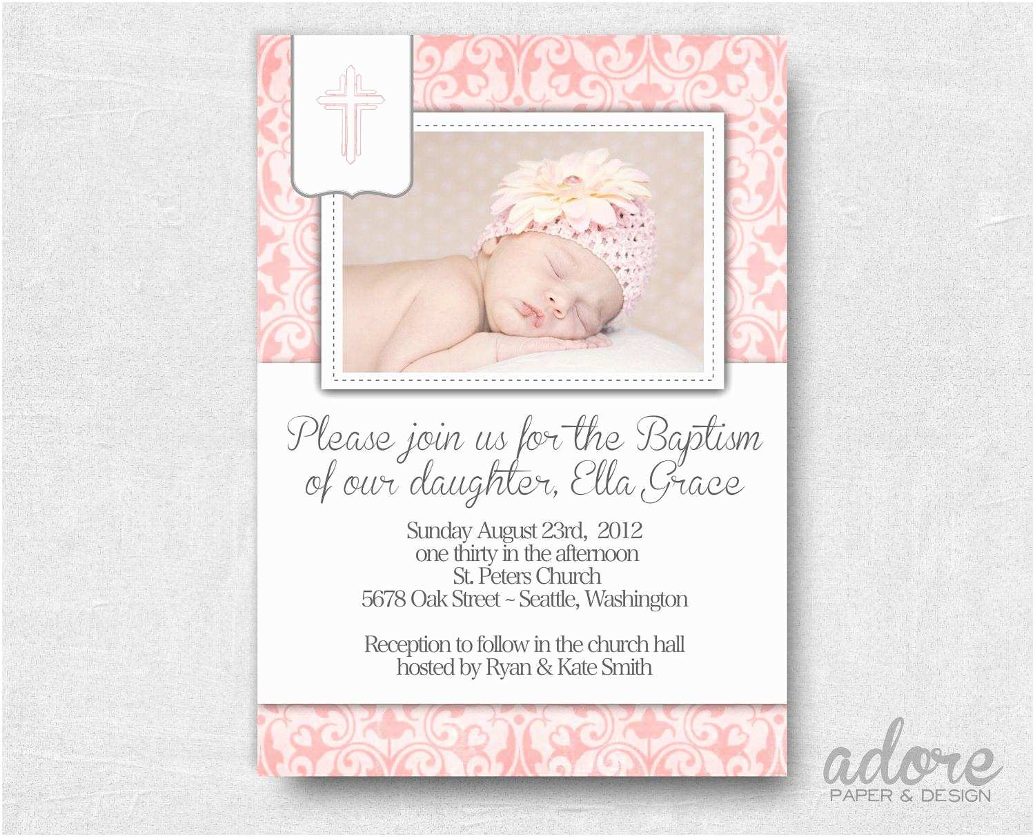 Baptism Invitations Templates Wording for Baptism Invitations Wording for Baptism