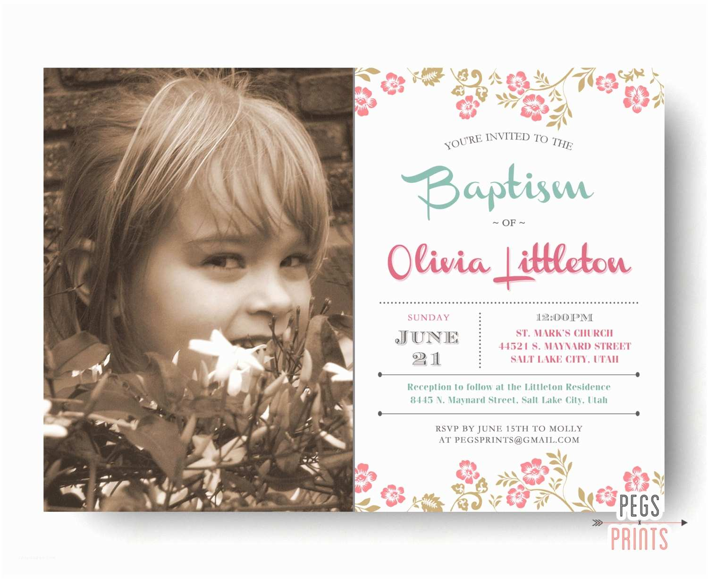 Baptismal Invitation Lds Baptism Invitation Girl Printable Lds Baptism Invite