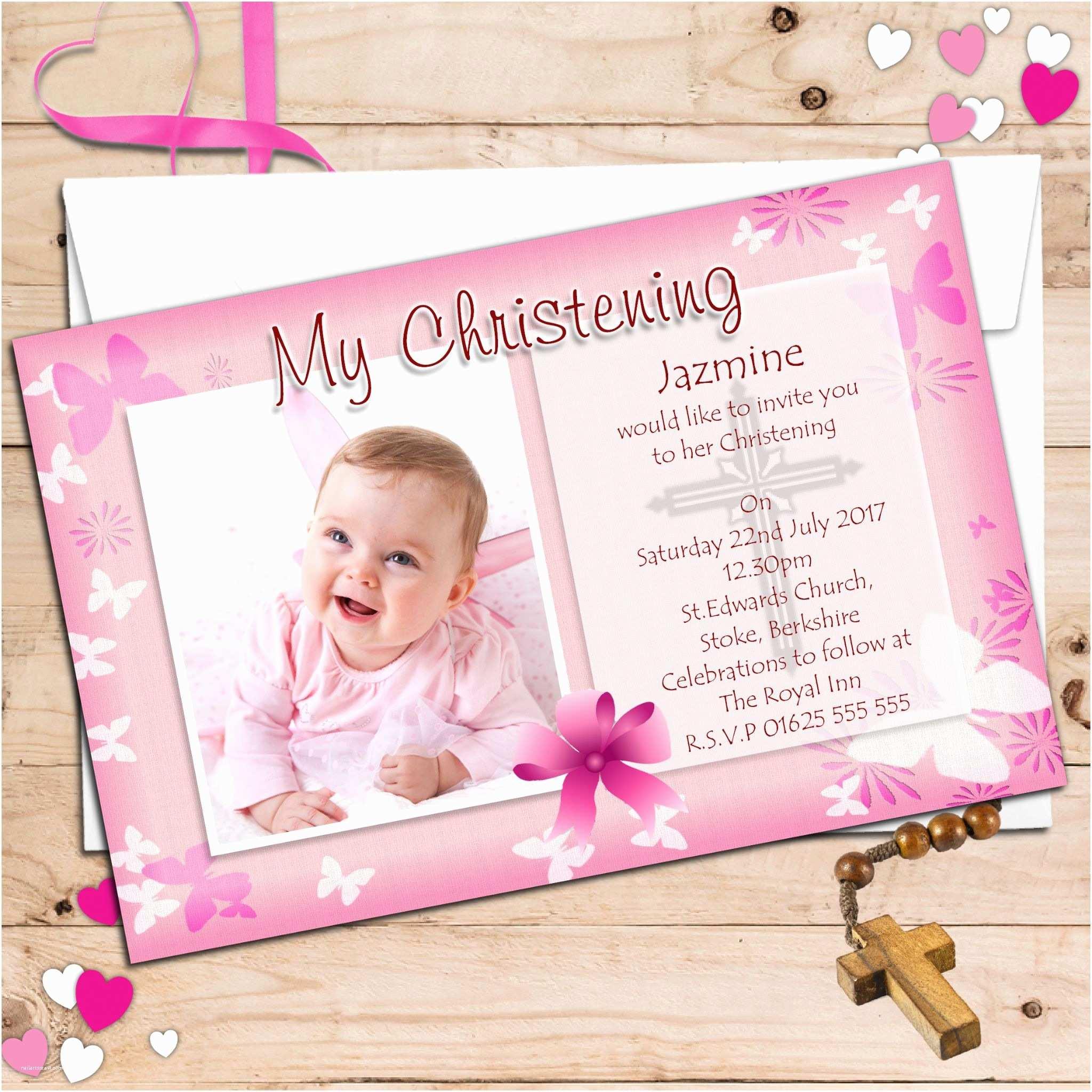 Baptismal Invitation Personalised Christening Invitations Personalised
