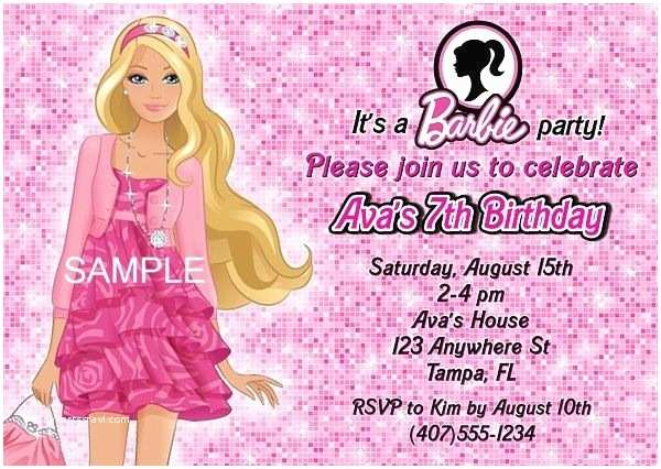 Barbie Birthday Invitations 211 Best Kids Birthday Party Invitations Images On