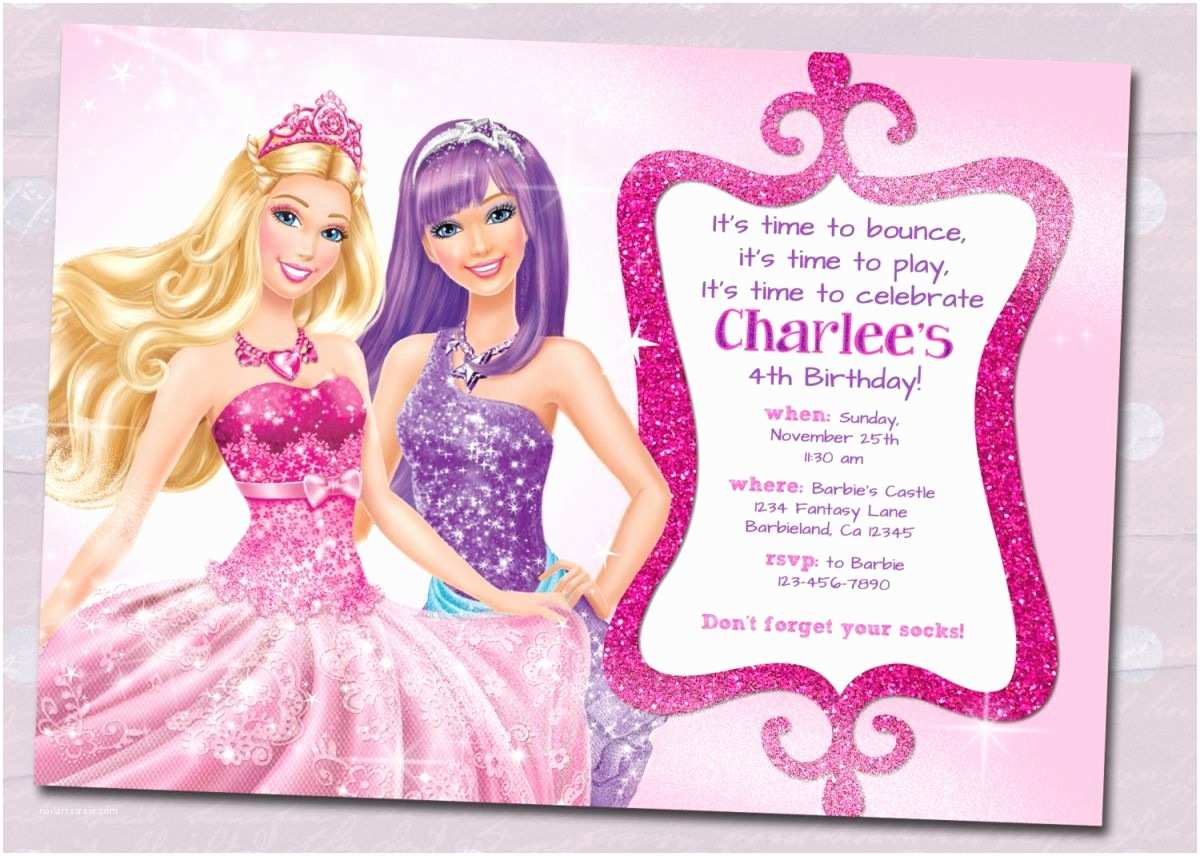 Barbie Birthday Invitations Barbie Birthday Invitation Samples Invites