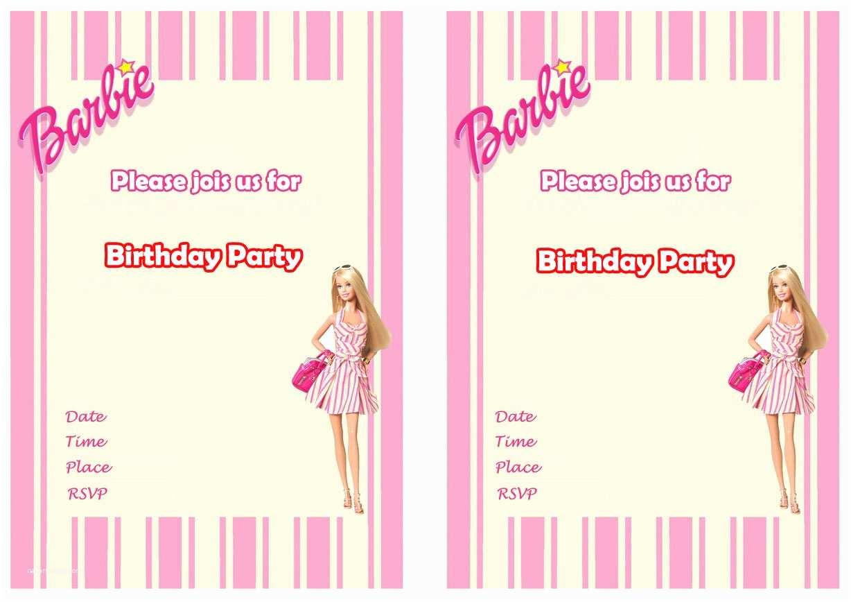 Barbie Birthday Invitations Barbie Birthday Invitations – Gangcraft