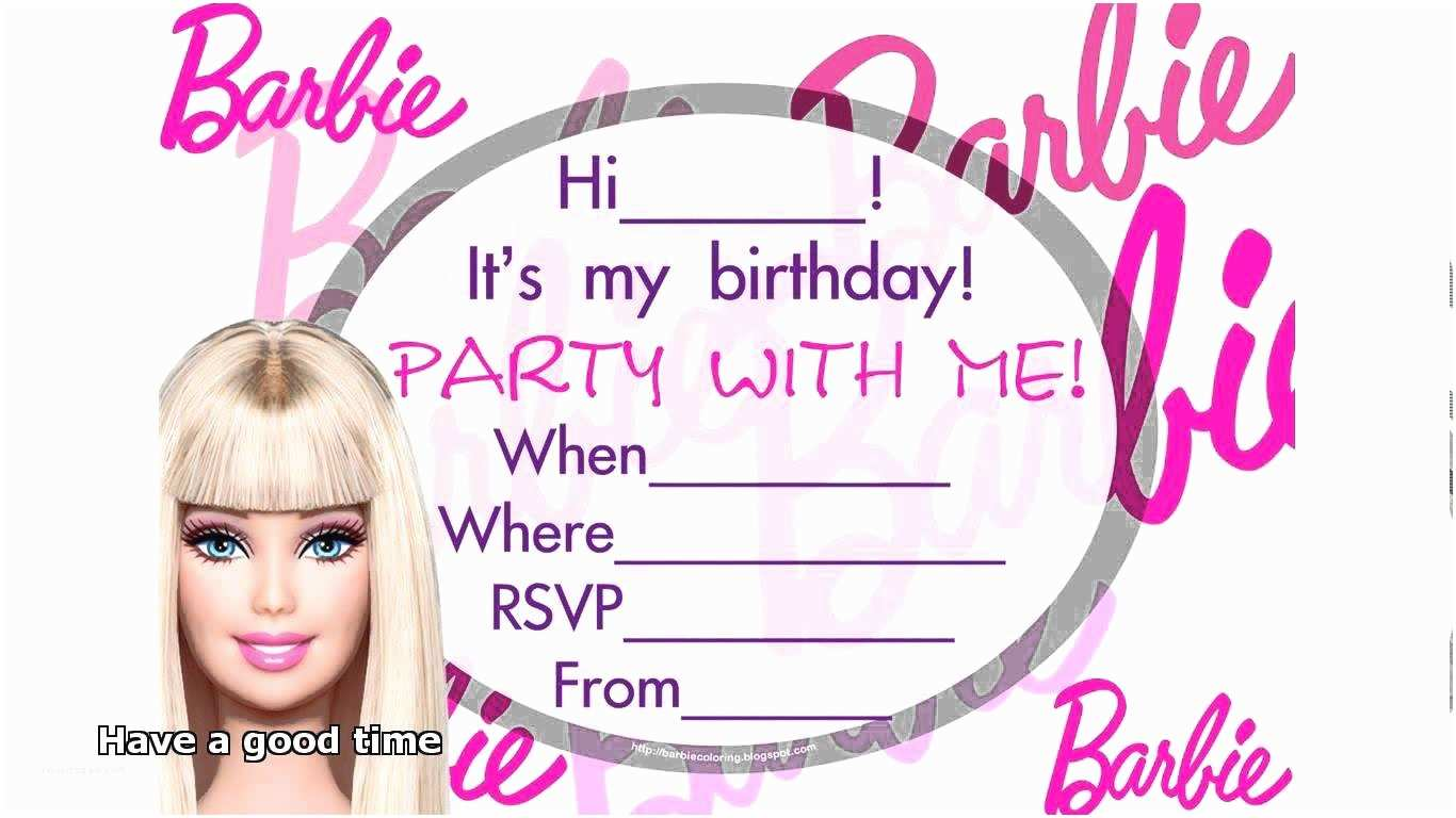 Barbie Birthday Invitations Barbie Birthday Invitations Modern Designs