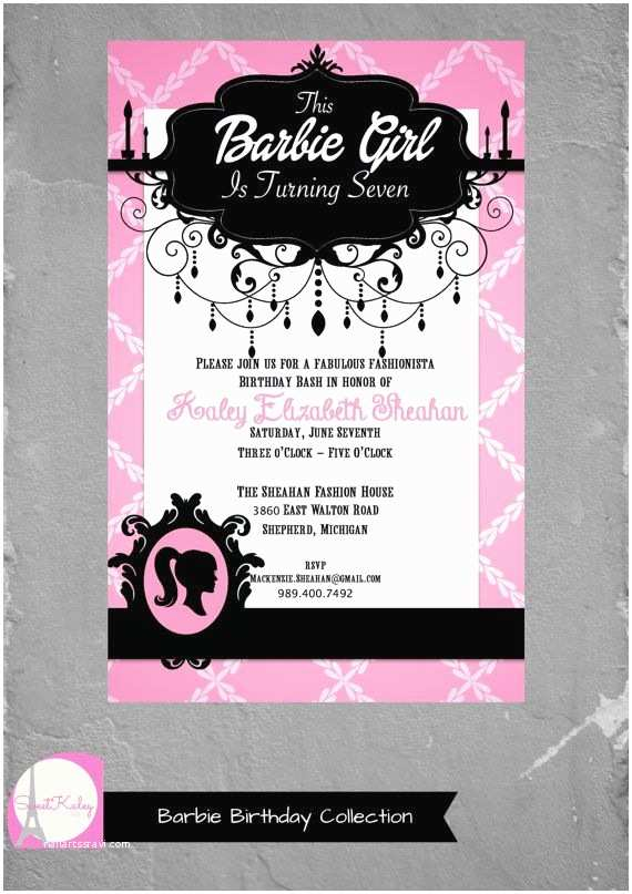 Barbie Birthday Invitations Best 25 Barbie Birthday Invitations Ideas On Pinterest